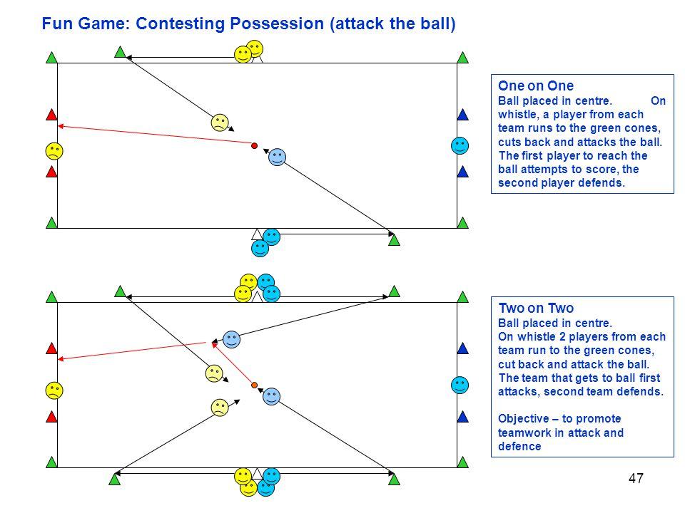 Fun Game: Contesting Possession (attack the ball)