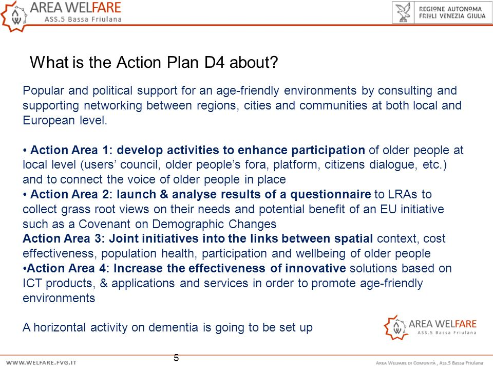 What is the Action Plan D4 about