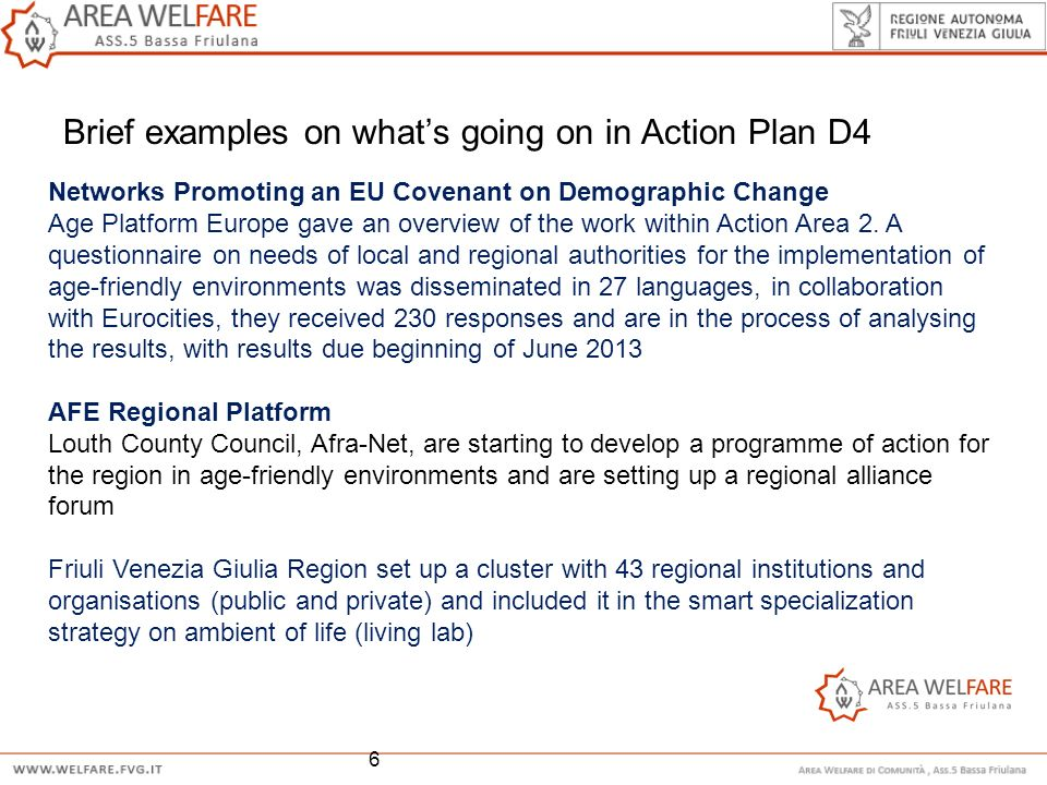Brief examples on what's going on in Action Plan D4