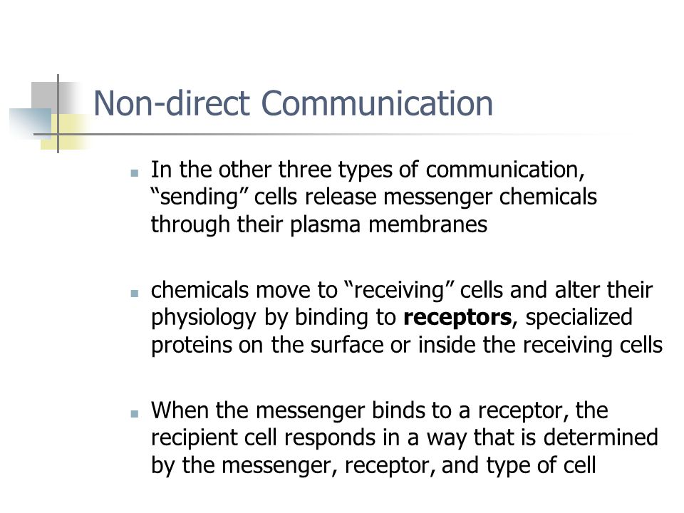Non-direct Communication