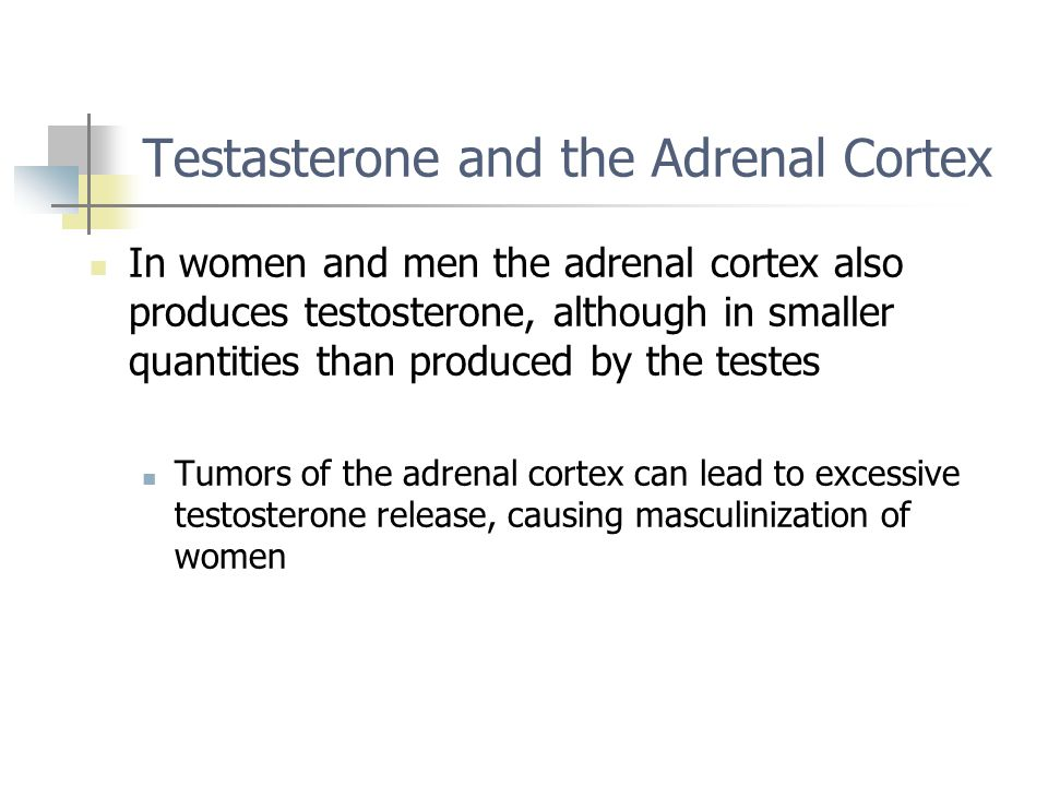 Testasterone and the Adrenal Cortex