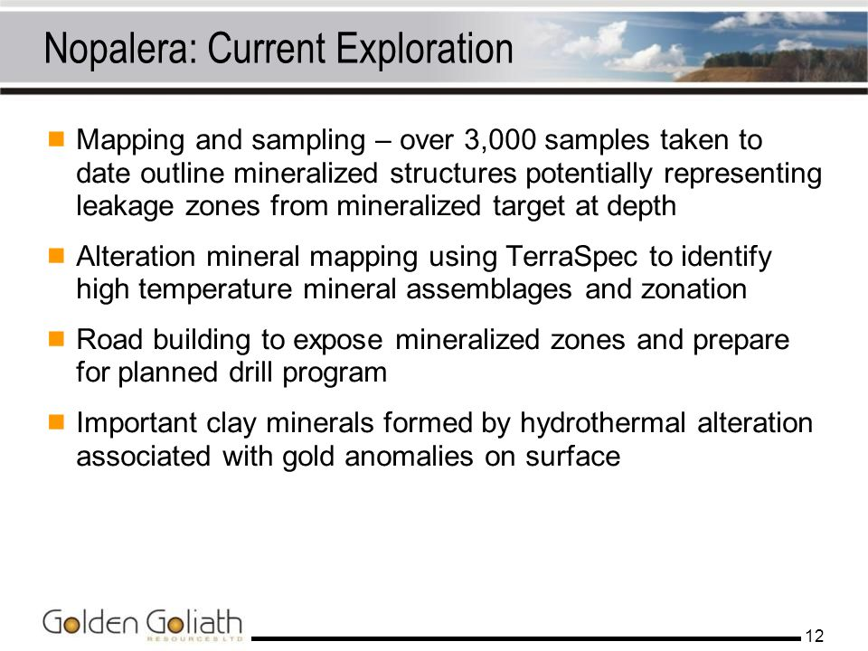 Nopalera: Current Exploration