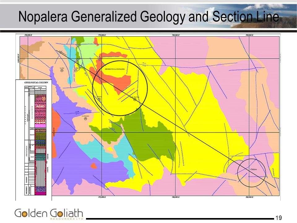 Nopalera Generalized Geology and Section Line