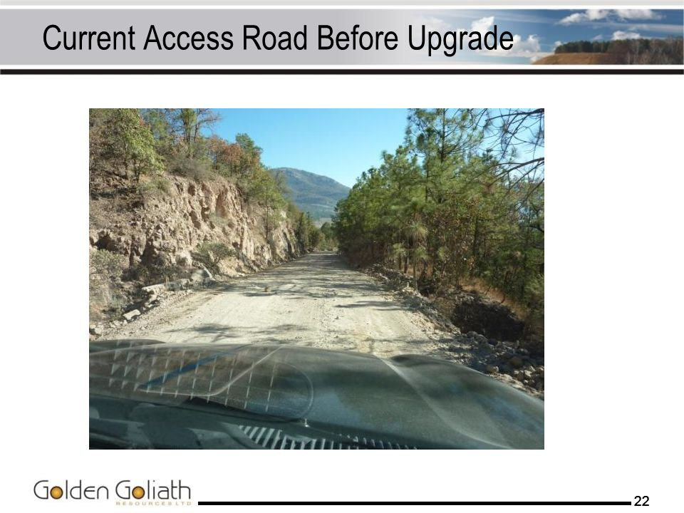 Current Access Road Before Upgrade
