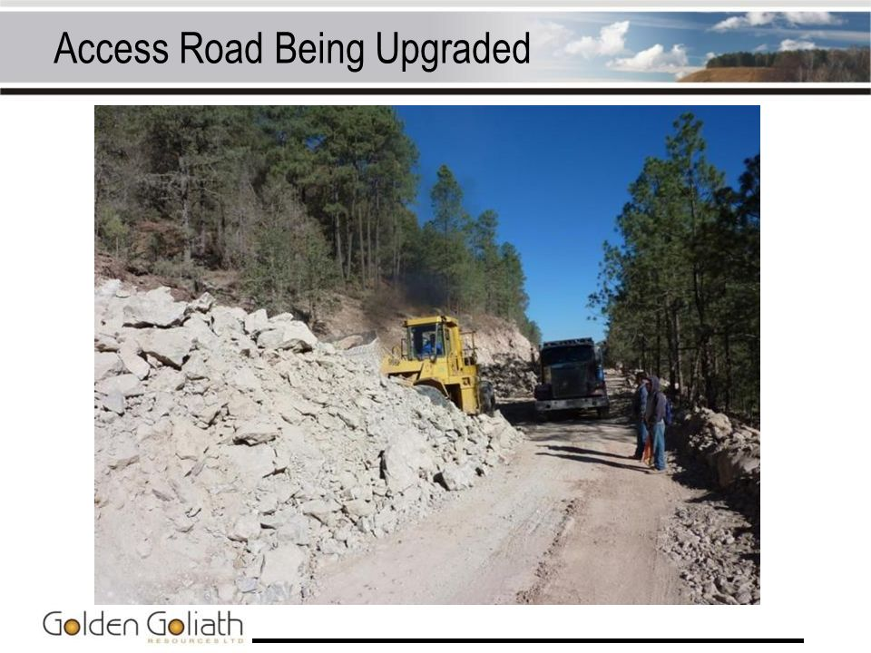 Access Road Being Upgraded