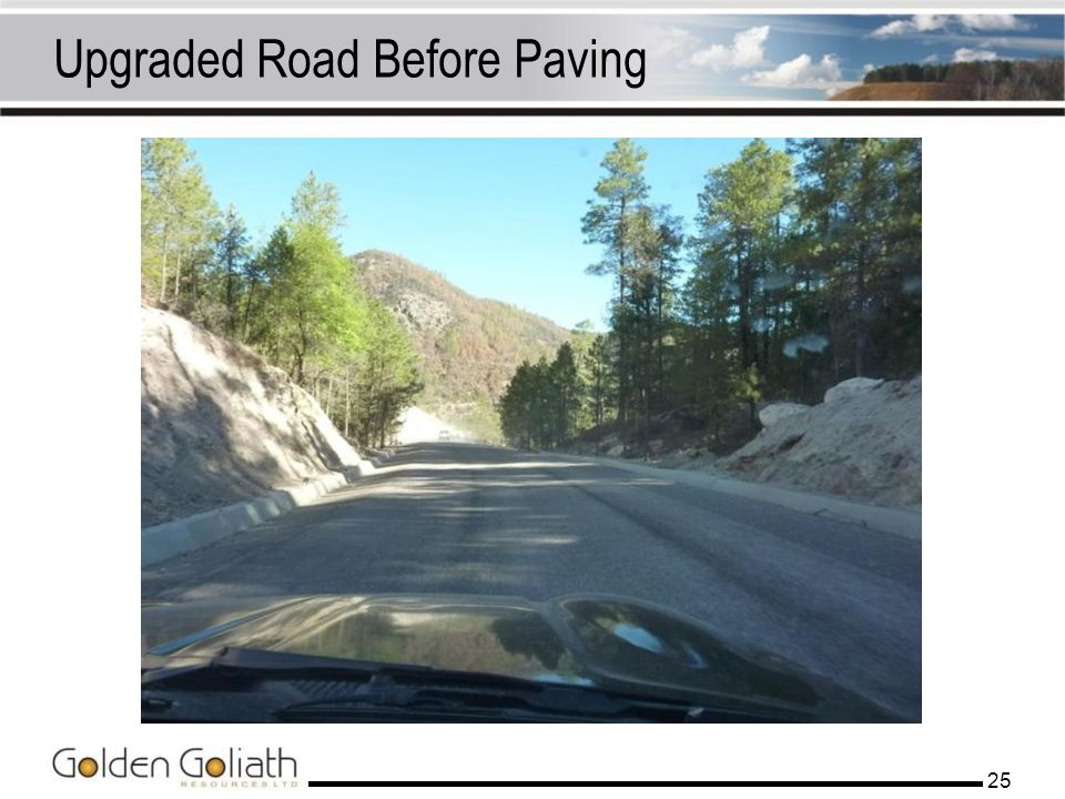 Upgraded Road Before Paving