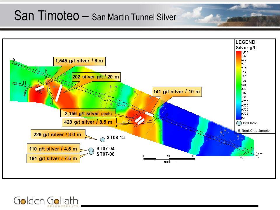 San Timoteo – San Martin Tunnel Silver