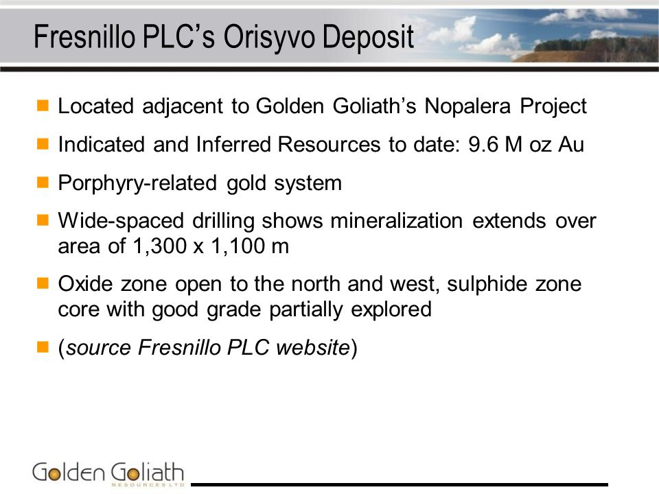 Fresnillo PLC's Orisyvo Deposit