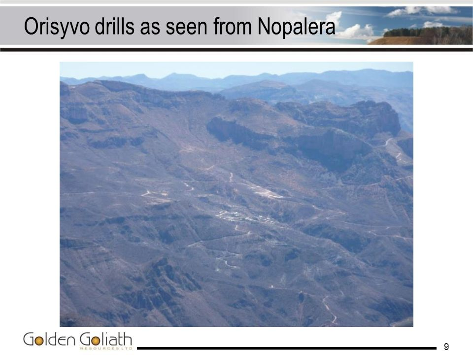 Orisyvo drills as seen from Nopalera