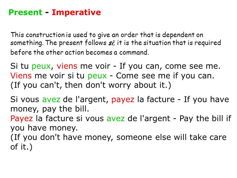 Present - Imperative