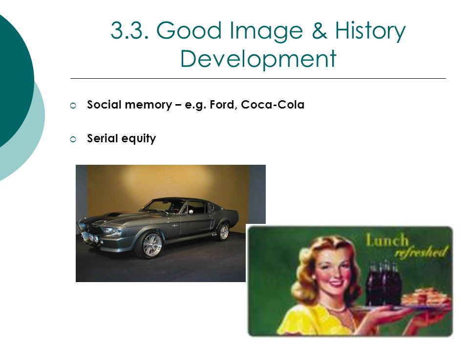 3.3. Good Image & History Development