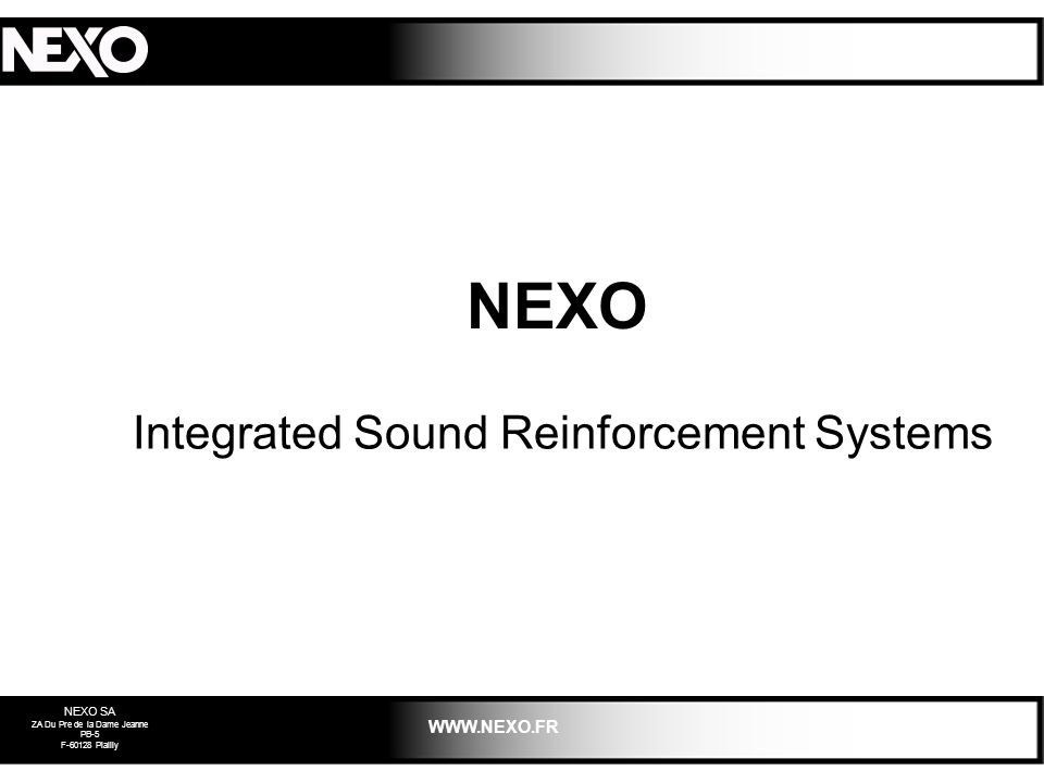 Integrated Sound Reinforcement Systems