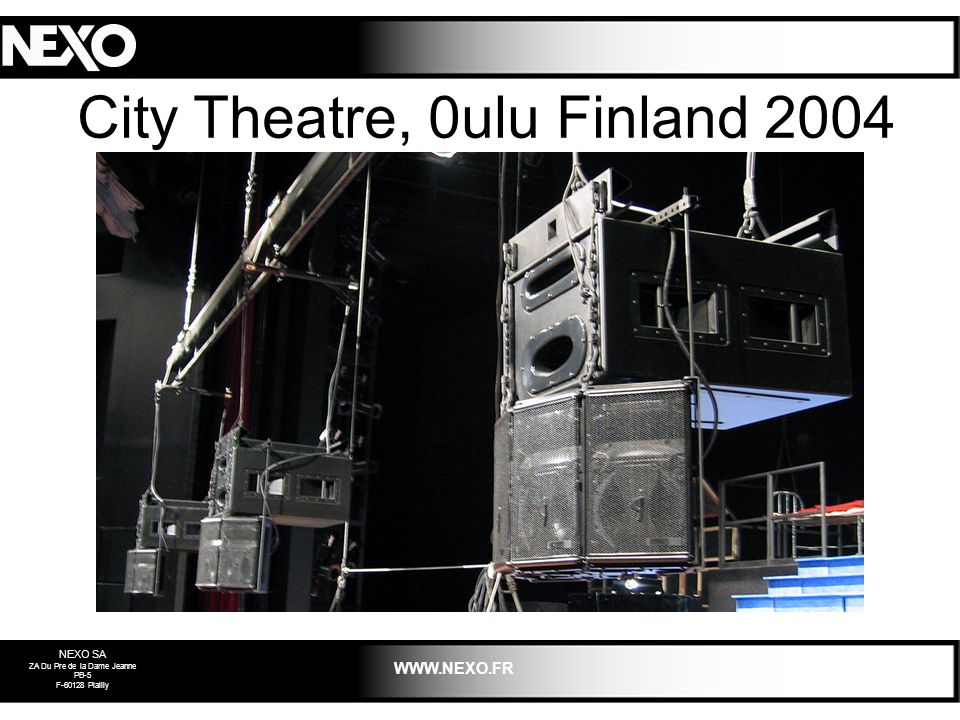 City Theatre, 0ulu Finland 2004