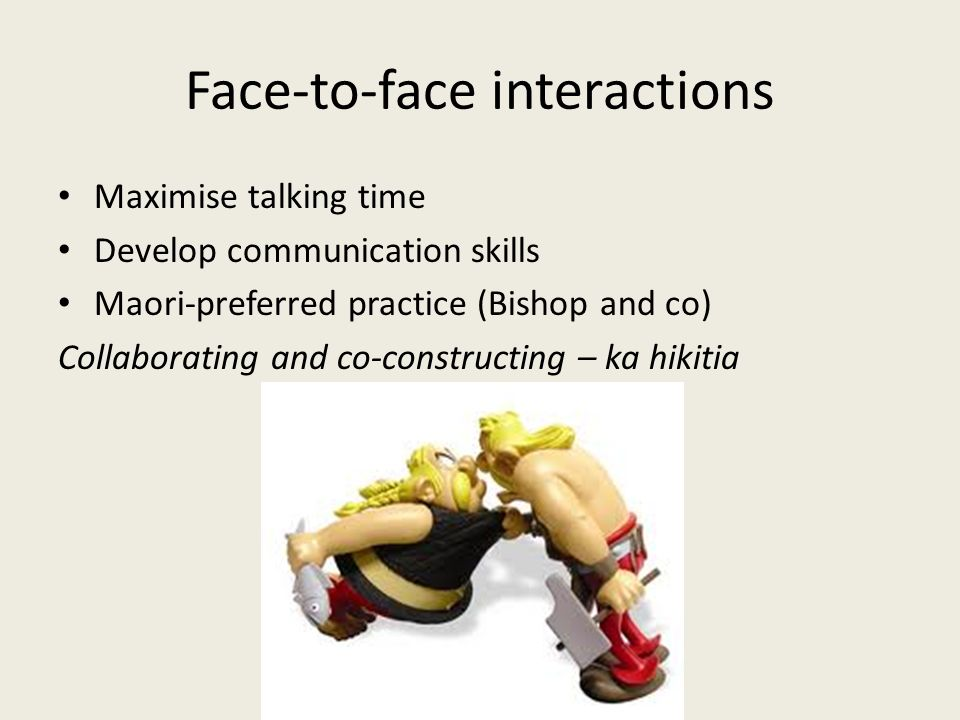 Face-to-face interactions