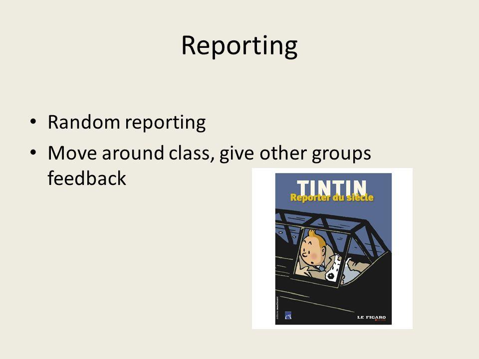 Reporting Random reporting