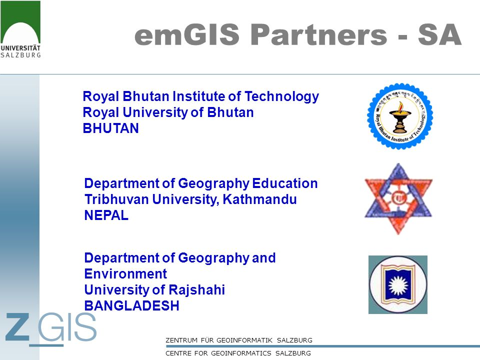 emGIS Partners - SA Royal Bhutan Institute of Technology