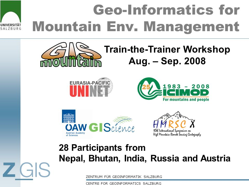 Geo-Informatics for Mountain Env. Management