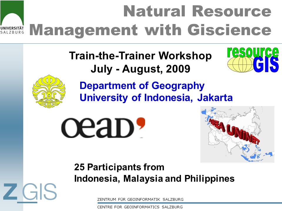 Natural Resource Management with Giscience