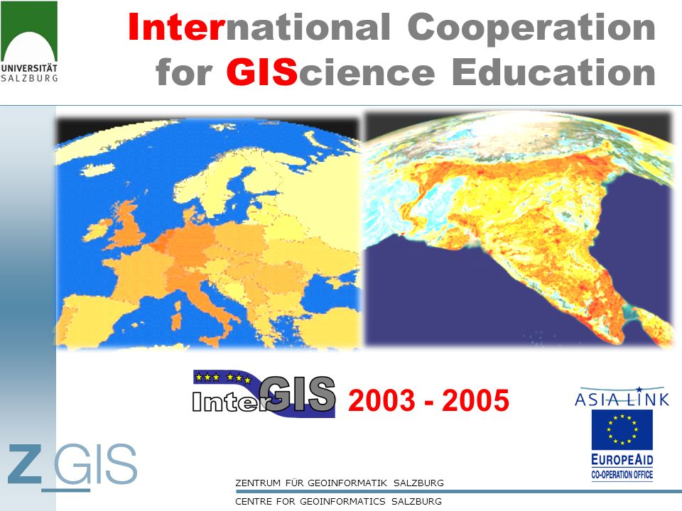 International Cooperation for GIScience Education