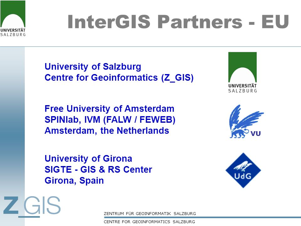 InterGIS Partners - EU University of Salzburg