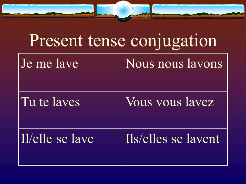 Present tense conjugation