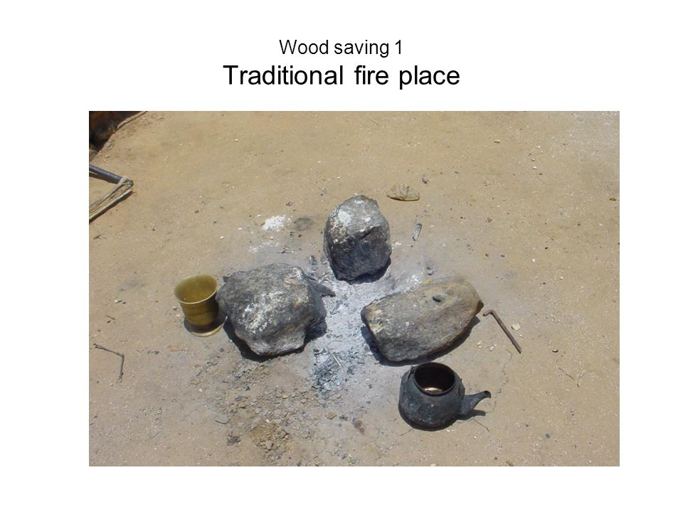Wood saving 1 Traditional fire place