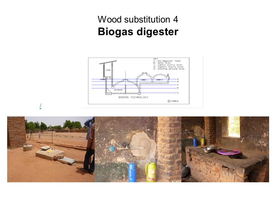 Wood substitution 4 Biogas digester