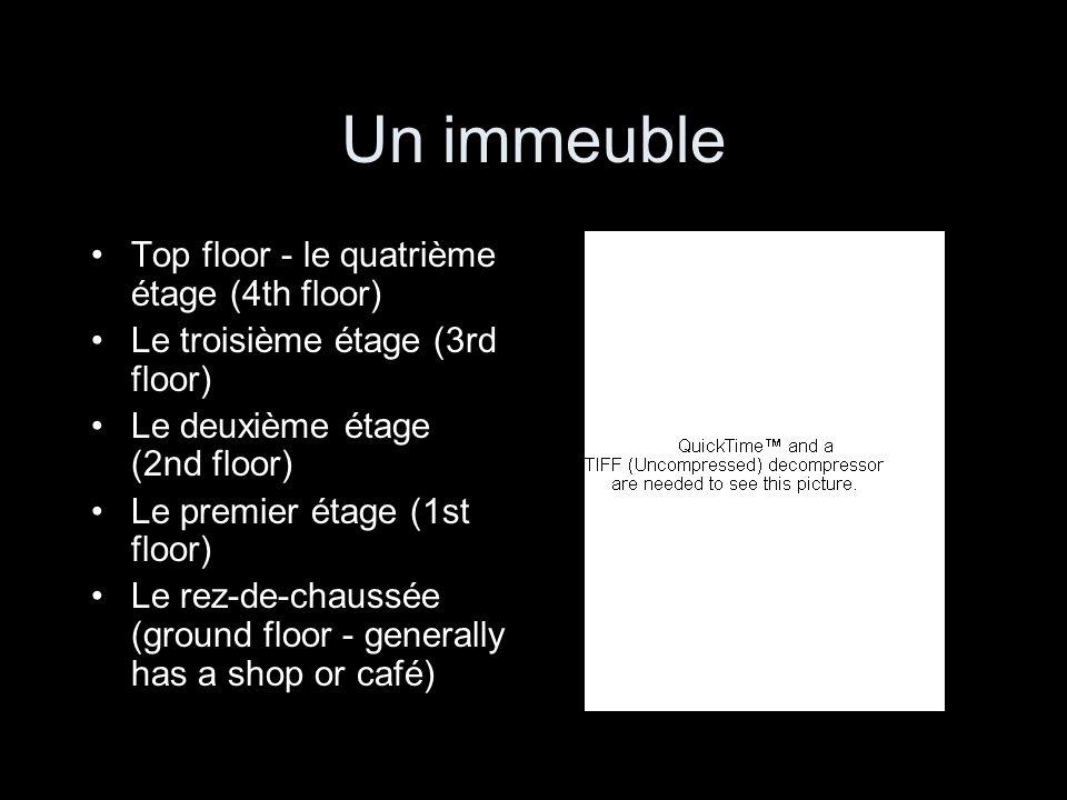 Un immeuble Top floor - le quatrième étage (4th floor)