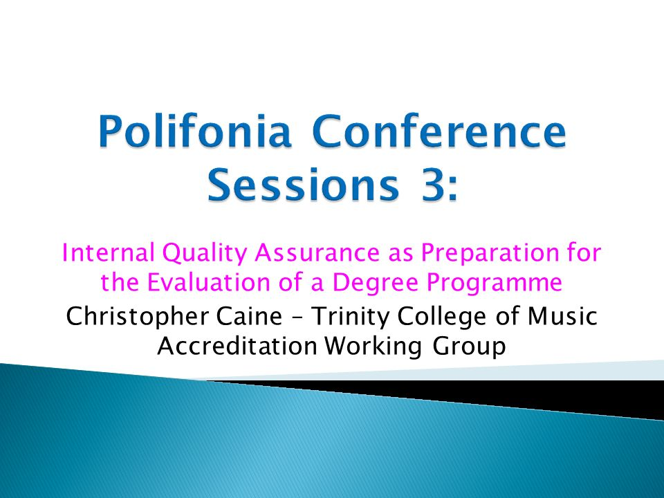 Polifonia Conference Sessions 3: