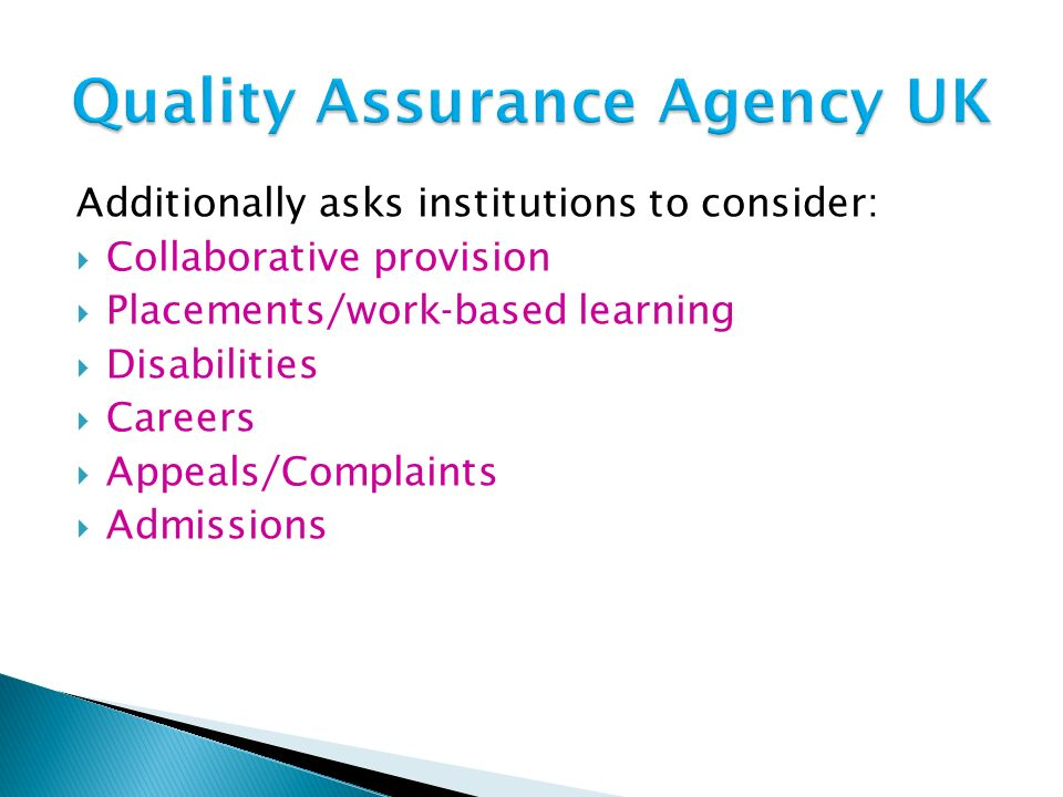 Quality Assurance Agency UK