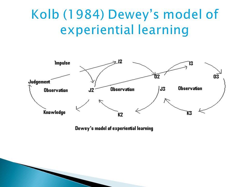 Kolb (1984) Dewey's model of experiential learning