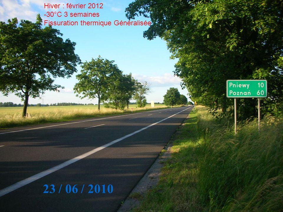 23 / 06 / 2010 Hiver : février 2012 30°C 3 semaines