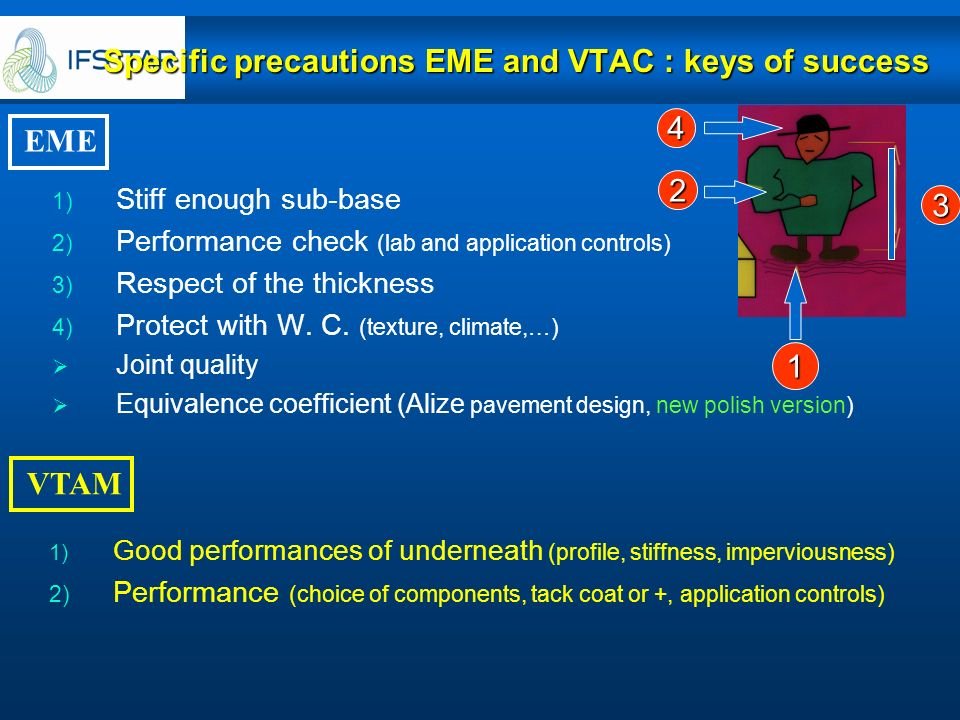 Specific precautions EME and VTAC : keys of success