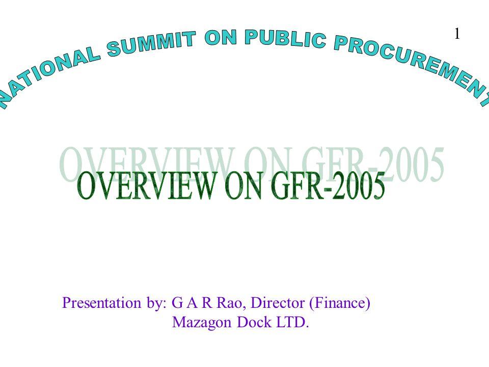 NATIONAL SUMMIT ON PUBLIC PROCUREMENT