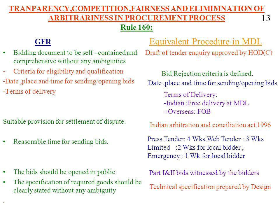 Equivalent Procedure in MDL