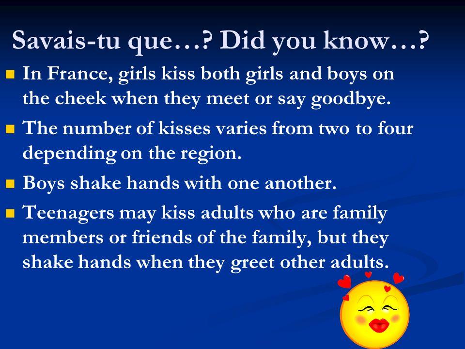 Savais-tu que… Did you know…