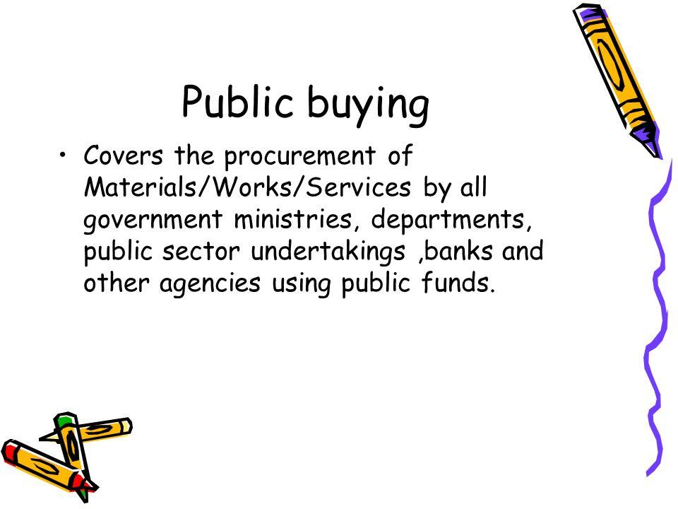 Public buying