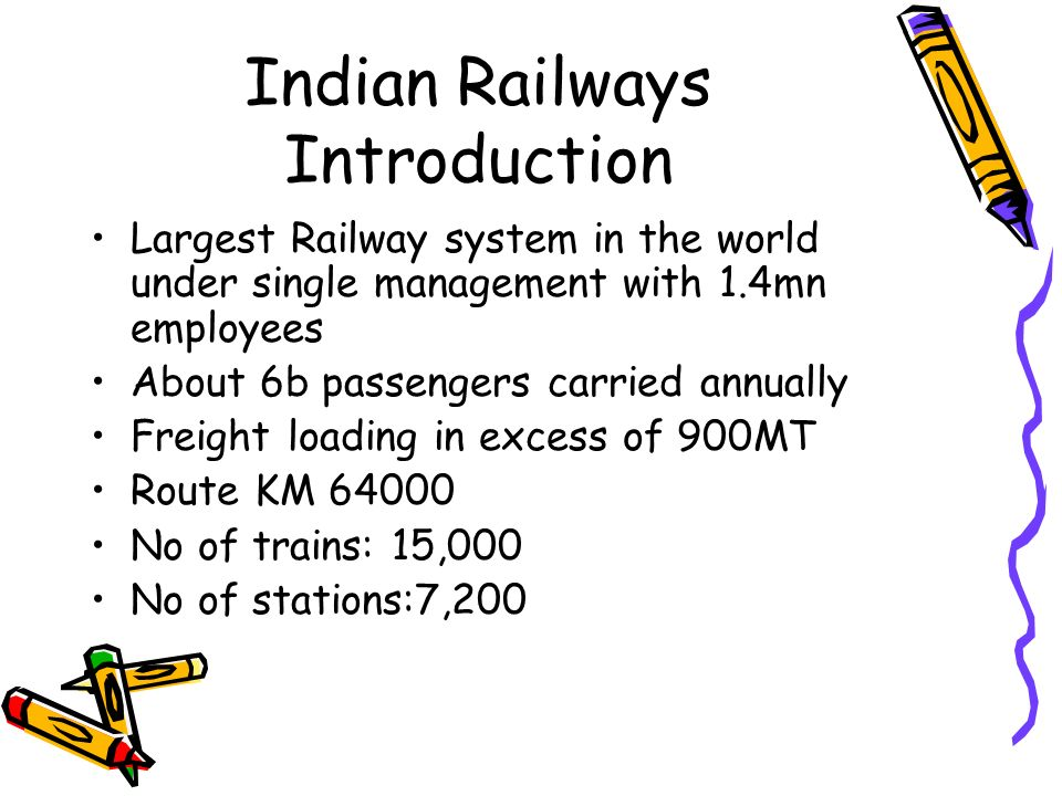 Indian Railways Introduction