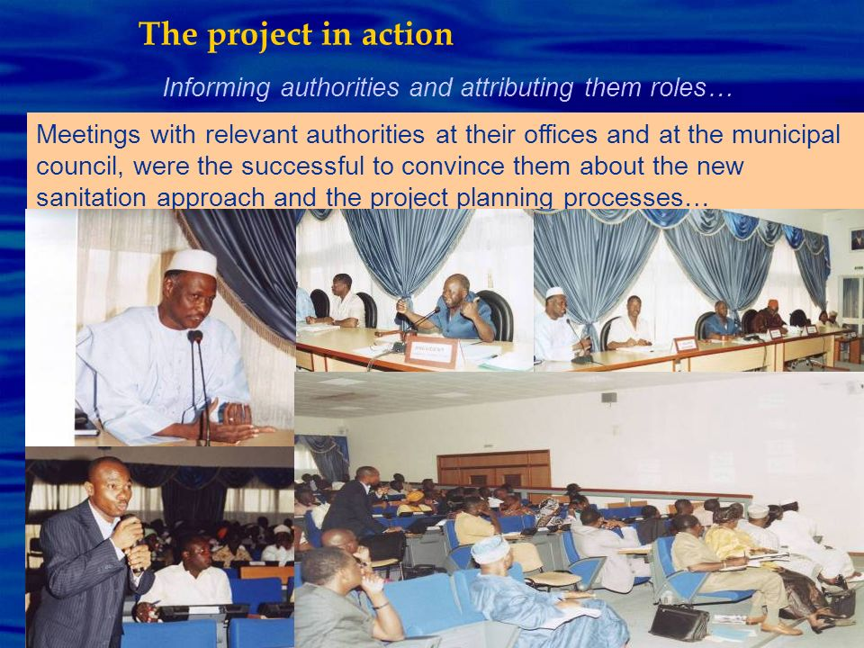 The project in action Informing authorities and attributing them roles…