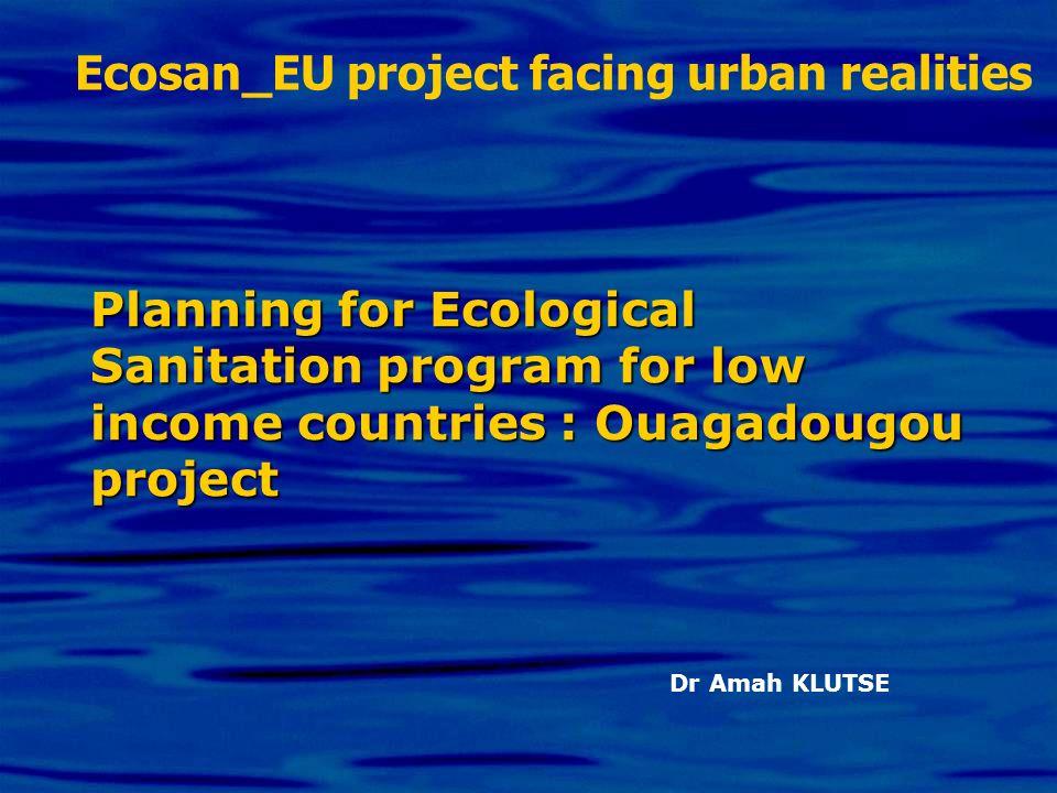 Ecosan_EU project facing urban realities