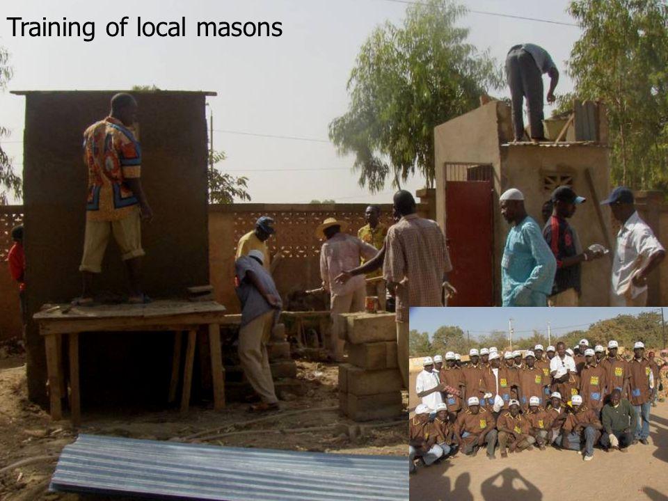 Training of local masons