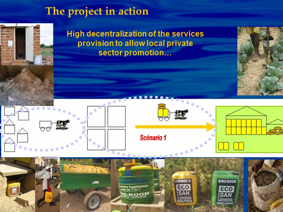 The project in actionHigh decentralization of the services provision to allow local private sector promotion…
