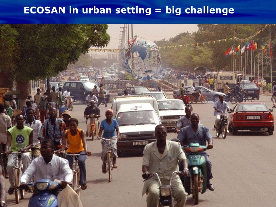 ECOSAN in urban setting = big challenge