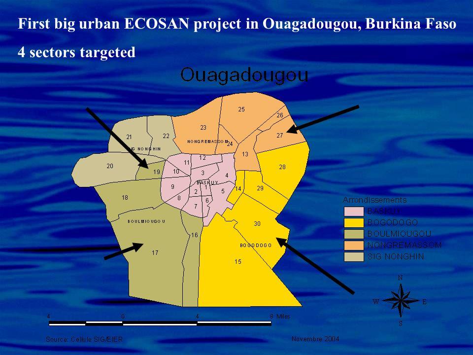 First big urban ECOSAN project in Ouagadougou, Burkina Faso
