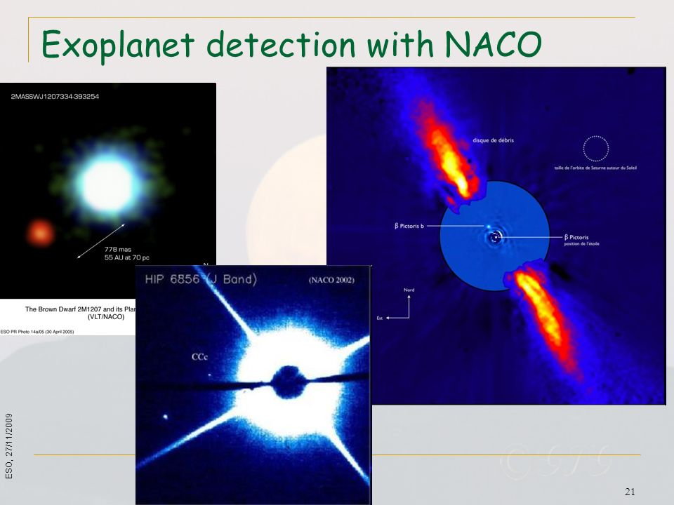 Exoplanet detection with NACO