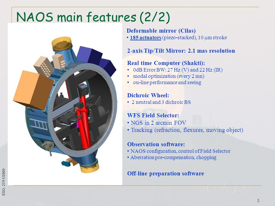 NAOS main features (2/2) Deformable mirror (Cilas)