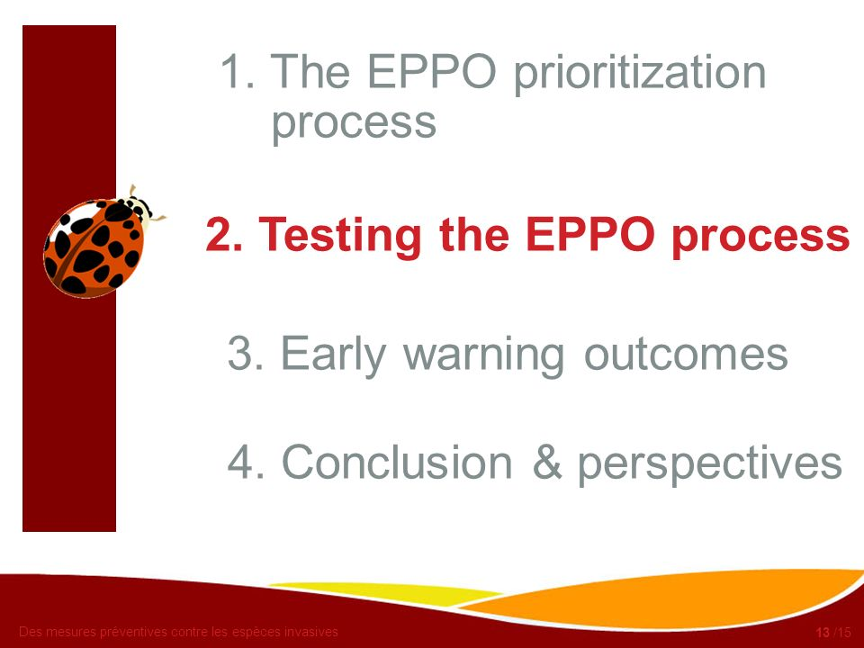 1. The EPPO prioritization process