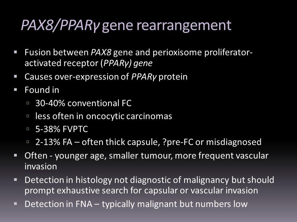 PAX8/PPARγ gene rearrangement