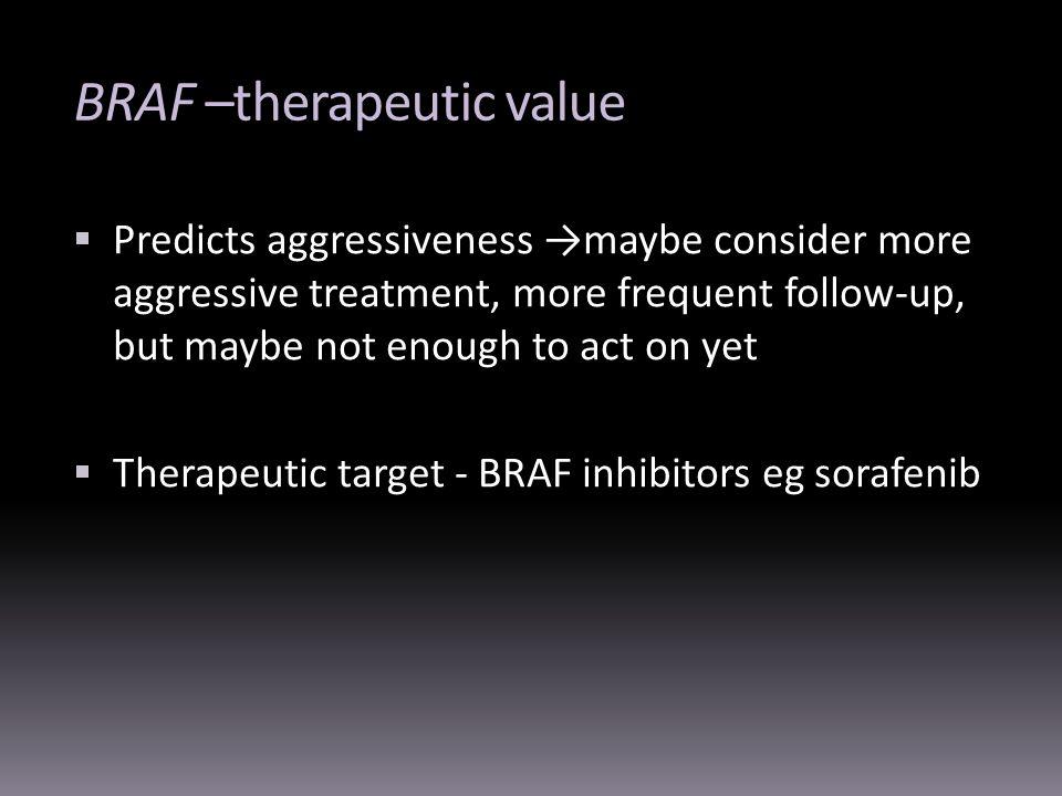 BRAF –therapeutic value