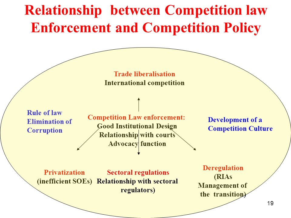 Relationship between Competition law Enforcement and Competition Policy